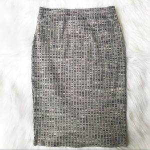 41 Hawthorn Brie Ribbed Pencil Skirt Grey